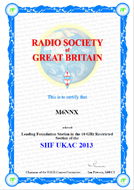 2013 10GHz SHF UKAC Leading Foundation Award