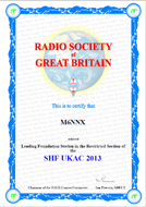 2013 SHF UKAC Leading Foundation Award